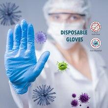 50 шт./лот нитриловые перчатки INTCO, синие, Белые Водонепроницаемые гипоаллергенные одноразовые защитные рабочие перчатки, нитриловые одноразовые перчатки