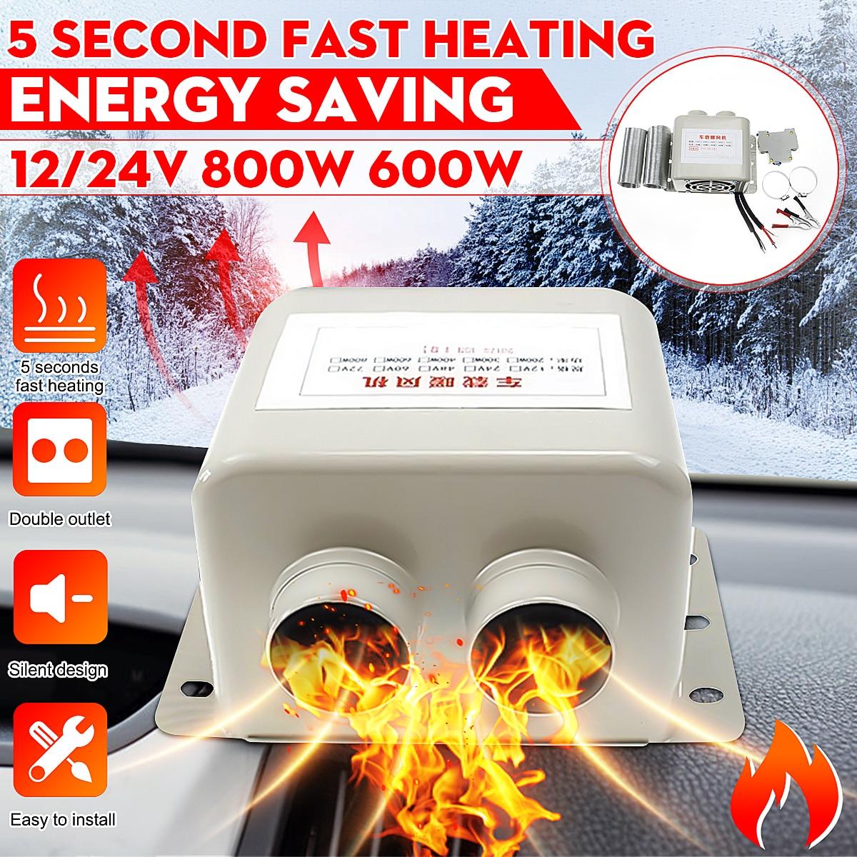 12V 24V 600W 800W Car Heater Fans Electric Heater Winter Heating Warmer Windscreen Seat Window Defroster Demister Truck RV Boat