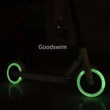 Pneu lumineux amortisseur pour Xiaomi Mijia M365, Scooter, Skateboard, pneus en caoutchouc solides, pneus à trous