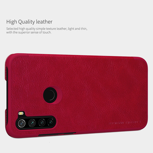 Image 3 - Voor Xiaomi Redmi Note 8 Pro / Note 8T Case Nillkin Qin Classic Flip Pu Cover Vintage Flip Lederen back Cover Met Card Slot