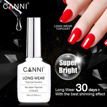 CANNI Новинка 18 мл длинное пальто без протирания не очищающее алмазное супер яркое глянцевое верхнее покрытие Обновлено, чем закаленное верхнее покрытие