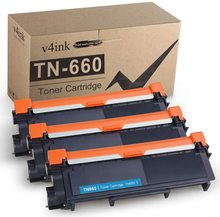 V4INK 3-Pack Compatible TN630 TN660 Toner Cartridge for Brother HL-L2340DW HL-L2300D HL-L2380DW MFC-L2700DW L2740DW DCP-L2540DW compatible toner cartridge tn820 for brother hl l5000d hl l5100dn hl l5200dw hl l5200dwt america printer 3000 pages