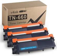 V4ink 3 pack совместимый с tn630 tn660 тонер картридж для brother