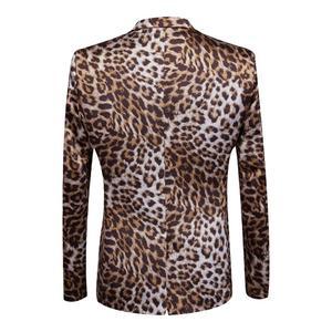 Image 2 - PYJTRL Merk Tij Mannen Luipaard Print Mode Leisure Blazer Masculino Slim Fit Pak Jassen Voor Mannen Zanger Kostuum Homme