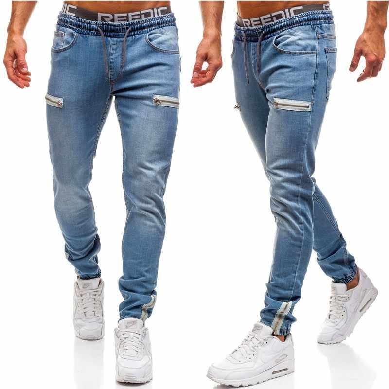 Brand Jeans Retro Nostalgie Mannen Kleding Hip Hop Joggingbroek Skinny Denim Broek Rits Designer Zwarte Jeans Heren Casual Mannen Jeans