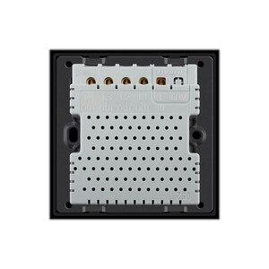 Image 5 - Livolo настенный светильник с сенсорным выключателем, 220 В, черная стеклянная панель, дистанционные беспроводные выключатели, Затемняющая занавеска, управление таймером