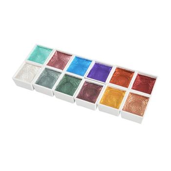 12-kolor 30ml perłowy akwarela dla początkujących ręcznie malowane szkic kaligrafii Nail Art stałe akwarela tanie i dobre opinie CN (pochodzenie) Zestaw 6 lat 8 ml Papier