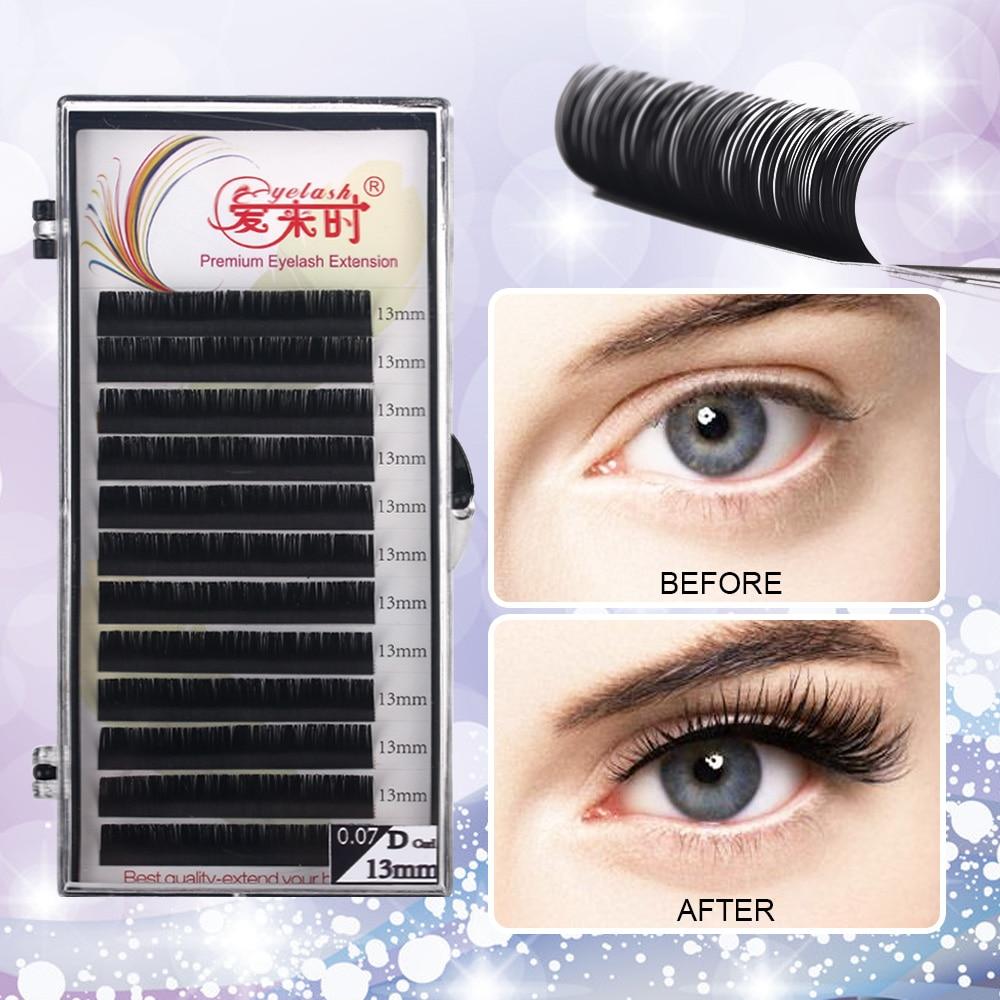 Individual Eyelash Extension Faux Mink Eyelash Curl B/C/CC/D 0.03-0.25mm Thickness Classical Eyelashes Maquiagem Cilios Eye Lash
