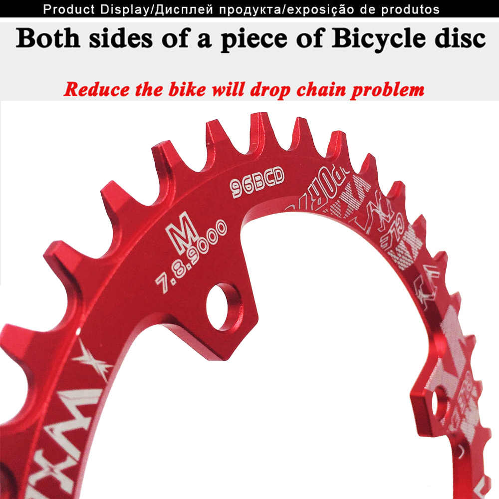 VXM ด้านหน้า chainwheel 30T 32T 34T 36T 38T 96BCD รอบ Chainring Chainwheel จักรยานห่วงโซ่สำหรับ M7000 M8000 M9000