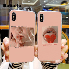 Babaite Pink Aesthetics songs lyrics Aesthetic Newest Super Cute Phone Cases for iPhone 8 8Plus 5 5S 6 6S 7 7plus X XS MAX XR