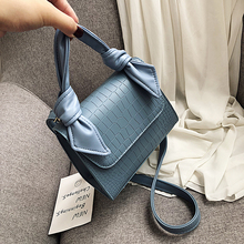 Stone Pattern PU Leather Crossbody Bags For Women 2020 Luxury Shoulder Messenger Bag Lady Totes Bow Design Handle Handbags Lady fashion mini totes tassel design heart shaped luxury handbags women bags pu leather crossbody bag l709