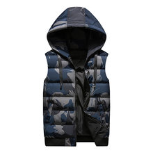 Nieuwe Winter Omkeerbare Hooded Mouwloze Jassen Stijlvolle Camouflage Mannen Vest Plus Size 4XL Double Side Winddicht Warm Vest(China)