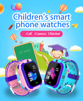 Q12 Children's Smart Phone Watch 1.44 Inch Waterproof Voice Chat LBS Track Electronic Watch For Boys Girls Kids Phone Watch 1
