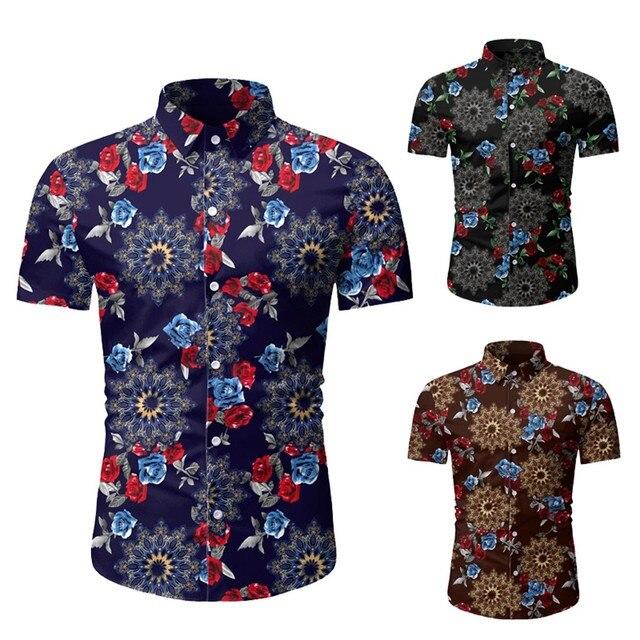 Ανδρικό floral κοντομάνικο πουκάμισο