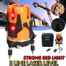 ZEAST лазерный уровень красный 5 линий 3D автоматический самонивелирующийся 360 Вращающийся вертикальный горизонтальный перекрестный уровень измерительные инструменты