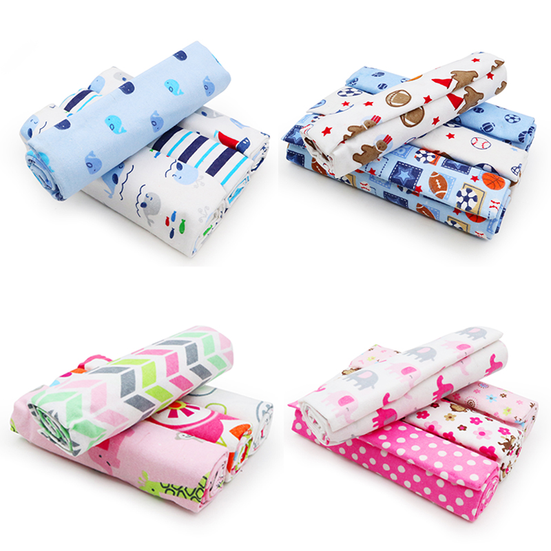4Pcs/Lot Baby Blanket Muslin Diapers 100% Cotton Newborn Swaddle Blankets Baby Kids Boy Girl Soft Swaddle Wrap Photography Props