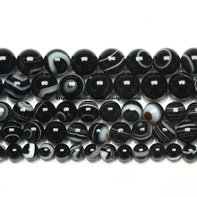 Free Shipping Natural Stone AAAA Quality Evil Eye Sardonyx Agates Round Loose Beads 6 8 10 12MM Pick Size For Jewelry Making