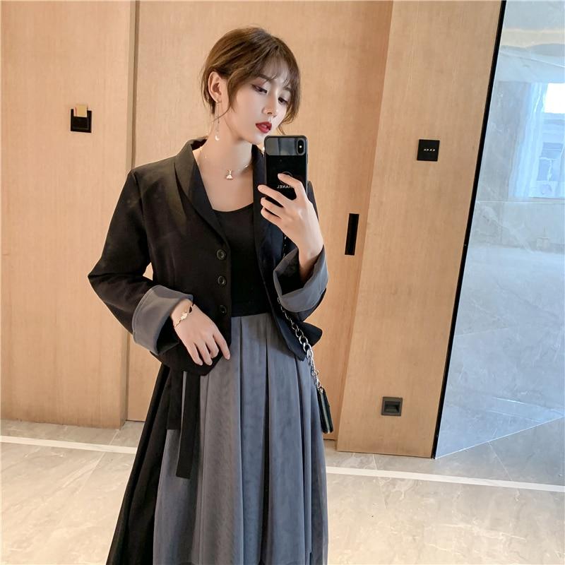 GLAUKE Classic Women Jacket Blazer Female Suits Coat Fashion  2020 Big Sizes Women Jackets Two-piece Dress Work Wear Stylish Coa