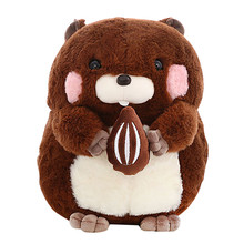Plush Toys Kawaii Fluffier Groundhog Plush Doll Cosplay Toy Baby Soft Animal Pig Pillow Children Girl Birthday Christmas Gift L5