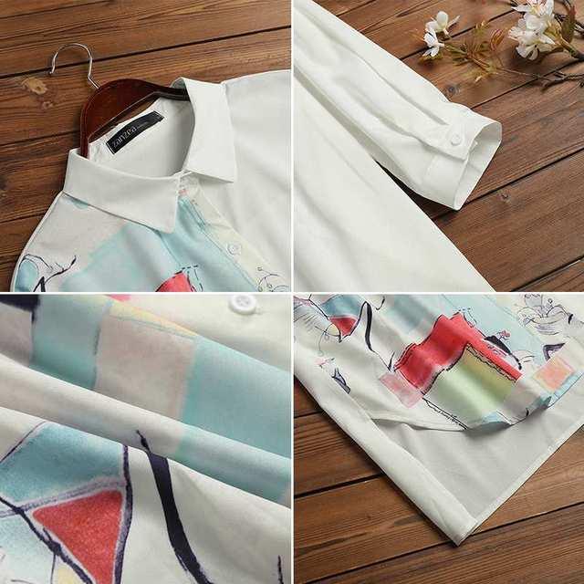 Kaftan  Sleeve Button Down Casual Tunic Plus Size 5