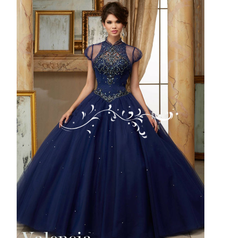2018 Abendkleider Latest Ball Gown Quinceanera Beaded Vestido De Novia Draped Halter Party Gowns Mother Of The Bride Dresses
