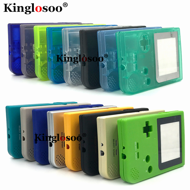 Luminous Full set housing shell cover case w/ rubber pad for gameboy pocket GBP shell buttons