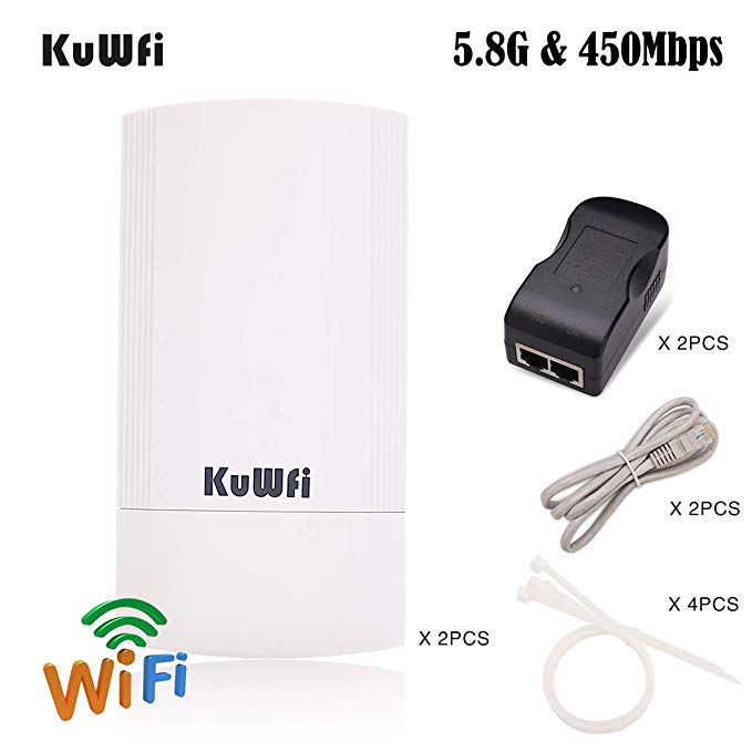 Image 5 - 2PCS 300Mbps Wireless CPE Outdoor 2KM P2P Wireless Bridge Router Wifi Repeater Supports WDS Function No Setting with LED Display-in Wireless Routers from Computer & Office