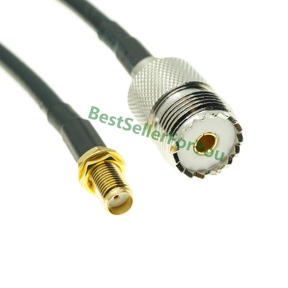 Кабель RG58 с гнездовой гайкой SMA в гнездовой кабель адаптера UHF SO239 для бы