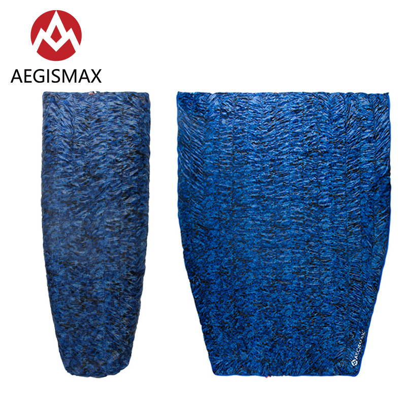 Aegismax Micro Duck Down Nicai Envelope Sleeping Bag Outdoor Camping Tent Can Be Spliced Portable Duvet Pure Whiteness