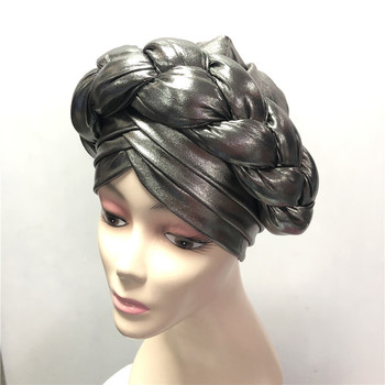 Nigerian Gele Headtie Aso Oke Gele Already Made Auto Gele Aso Ebi Headtie African Turban Cap with Colorful-LP30 image