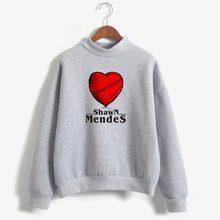 Singer Shawn Mendes Turtleneck Sweatshirts Outwear Hip-Hop W