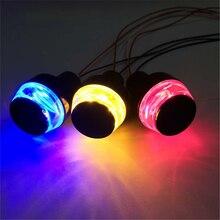 2pcs motorcycle Handlebar top led Blinker lights 12V turn signal Light white Amber Indicator setas moto