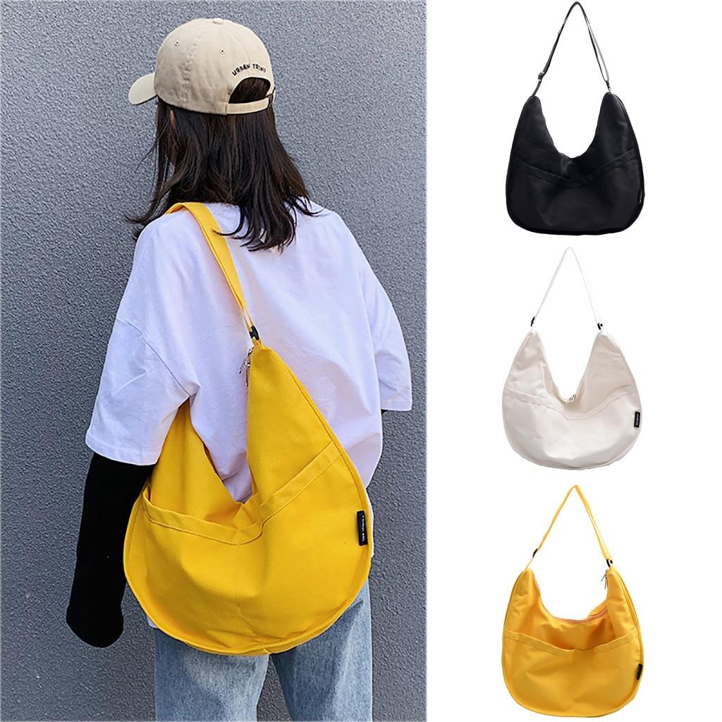 Women Fashion Canvas Bag Large Capacity Dumplings Durable Female Handbag Tote Shopper Canvas Eco Bags Messenger Shoulder Bag