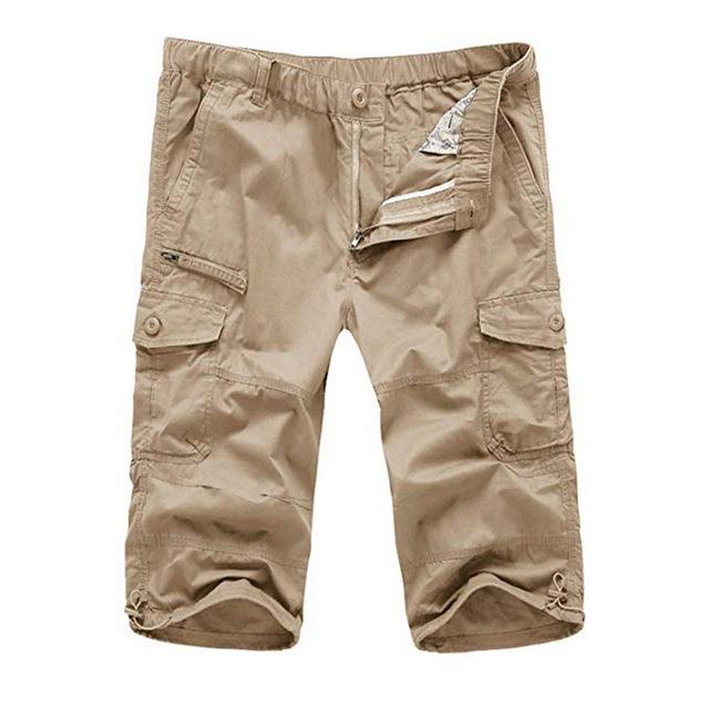 Classic Cargo Pants Men Casual Sports Calf Length Military Trousers Vintage Pockets Short Pantalone Hombre Summer Tactical Pants