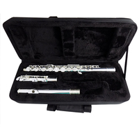 16 closed holes Alto Flute Cupronickel Metal Flutes in Line G Pitch with Foambody Case Flutes Western musical instruments