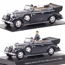 Escala 1:43 lancia astura iv serie ministeriale 1938 vittorio emanuele iii figura de ação diecastas & veículos de brinquedo modelo carro presentes