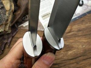 Image 5 - LCM66 ציד ישר סכין טקטי knifeFixed סכינים, פלדת ראש + מוצק עץ ידית הישרדות סכין, קמפינג הצלת סכין כלים