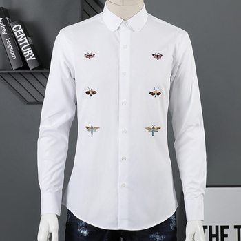 100% Pure Cotton Men Shirt Fashion Long sleeve Slim Camisas masculina Solid color Long sleeve Chemise homme 2019 Shirts men
