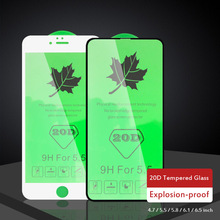 No Broken Edge Tempered Glass Screen Protector for iPhone 11 Pro Max XR XS 20D Full Cover 6 6S 7 8 Plus X Film
