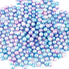 Wholesale Pick Size 4mm 5mm 6mm ABS Imitation Pearl Beads Many Colors For You Fit DIY Bracelet Making(China)