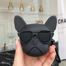 Cute Bulldog Cartoon AirPods Protective Case Wireless Bluetooth Headphones Headset Universal 1/2 Generation