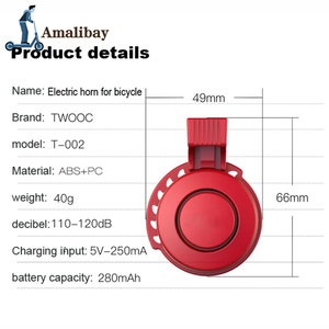 Image 5 - Akumulator skuter Bell 120dB wodoodporna kierownica Alarm róg dla Xiaom Mijia M365 /M365 Pro dla Ninebot ES1 ES2 skuter