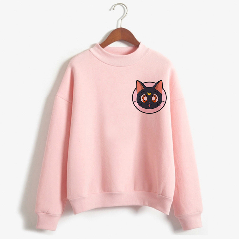 Sailor Moon Harajuku Kawaii Anime Hoodies Women Ullzang Korean Style Cute Funny Cartoon Sweatshirts 90s Aesthetic Hoody Female