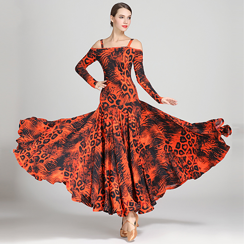 Image 5 - NEW Ballroom Competition Dance Dress Women Modern Tango Waltz 