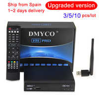 DMYCO V9S 10 PCS Lot Support HDMI and AV Satellite Receiver Full 1080P TV box With USB Wifi Receptor Youtube DVB-S2 TV Receiver