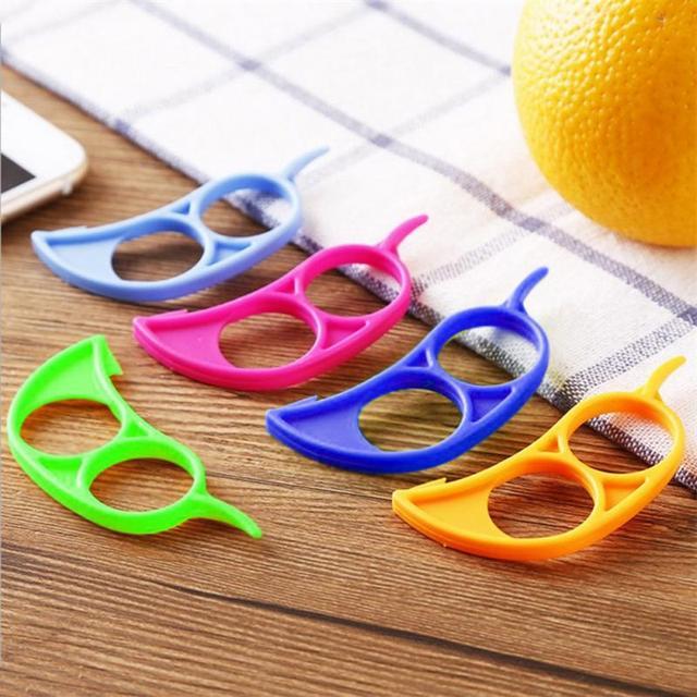 Plastic Orange Peeler Useful Lemon Grapefruit Fruit Slicer Easy Peeler Stripper Remover Knife Cooking Tool Kitchen Accessories 4