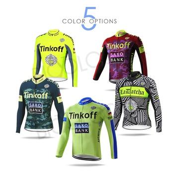 Jersey de Ciclismo de Invierno para hombre, chaqueta de Equipo SAXO BANK...
