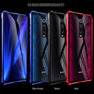 Image 5 - Xiaomi mi 9 t Pro 케이스 금속 케이스 용 금속 범퍼 커버 Xiao mi 9 t mi9 t 용 투명 유리 뒷면 커버 Luxury Shockproof