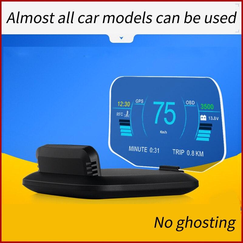 Автомобильный дисплей на лобовое стекло HUD OBD2 II EUOBD Предупреждение о превышении скорости, проектор на лобовое стекло, автомобильная электро...