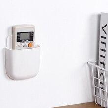 1 Uds organizador montado en la pared caja de almacenamiento fuerte succión de Pared Soporte de teléfono móvil hogar estante de almacenamiento sin perforaciones